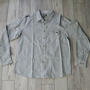 Men's medium button up gray shirt
